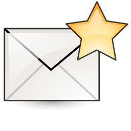 Favorite, Mail, New, Star Icon