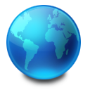 Blue, Earth, Internet, Network, World Icon