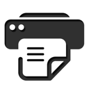 And, Fax, Printer Icon