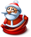 Christmas, Sack, Santa Icon