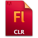 Clr, Document, File, Flash Icon