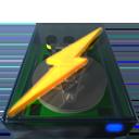 Disk, Lightning, Power Icon