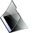 Black, Empty, Folder Icon