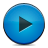 Blue, Button, Play Icon