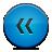 Blue, Button, Rewind Icon