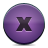 Button, Close, Violet Icon