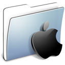 Apple, Folder, Graphite, Smooth Icon