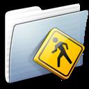 Folder, Graphite, Public, Stripped Icon