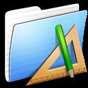 Applications, Aqua, Folder, Stripped Icon