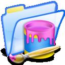 Folder, Paint Icon