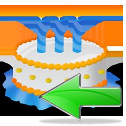 Back, Birthday, Cake Icon