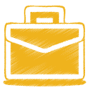 Brief, Case, Work, Yellow Icon