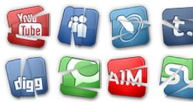 Broken Social Icons