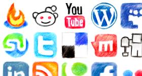 Color Pencil Web 2.0 Icons