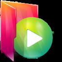 Aurora, Folder, Play Icon