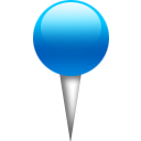 Blue, Pin Icon