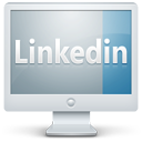 Linkedin, Monitor, Screen Icon