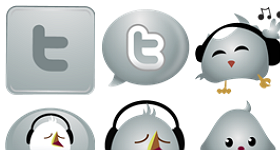 Twitter Chrome Icons