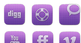 Vibrant Sophisticated Social Media Icon Set Icons