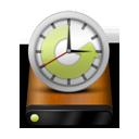 Drive, Machine, Time, Wood Icon