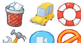 Desk Toon Icons