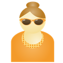Orange, Sunglass, Woman Icon