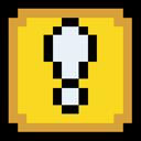 Block, Exclamation, Retro Icon