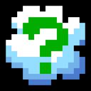 Cloud, Question, Retro Icon
