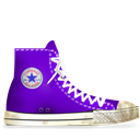 Converse, Dirty, Light, Lila Icon