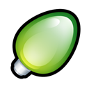 Christmas, Green, Light Icon