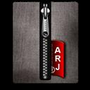 Arj, Black, Silver Icon