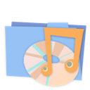 Alt, Blue, Folder, Music Icon