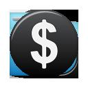 Black, Currency, Dollar Icon