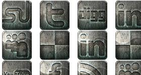 Derelict Social Media Icons