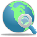 Globe, Search Icon