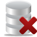 Database, From, Remove Icon