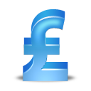Blue, Pound, Sterling Icon