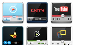 Video Websites Player Icons