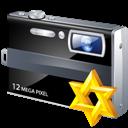 Camera, Star Icon