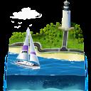 3d, Sailing Icon
