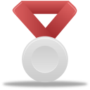 Metal, Red, Silver Icon