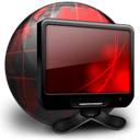 Black, Network, Places, Red Icon