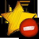 Delete, Star Icon