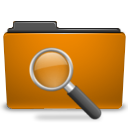 Orange, Search Icon