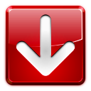 Arrow, Down, Download, Red Icon