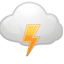 Cloud, Lightning Icon