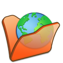 Folder, Internet, Orange Icon
