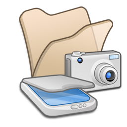 &Amp, Beige, Cameras, Folder, Scanners Icon