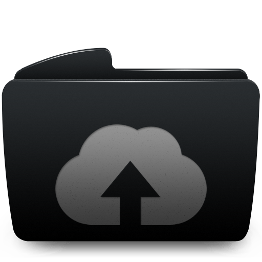 Black, Folder, Upload, Web Icon