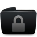 Black, Folder, Lock Icon